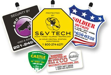 Custom Security Signs and custom security decals