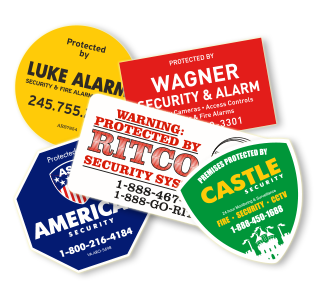 Custom Security Stickers
