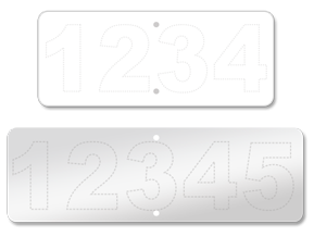 Blank Address Plates